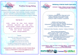 Our Services – printable leaflet